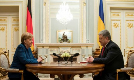 Angela Merkel, Petro Poroshenko