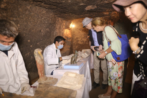 Newly discovered tombs in Egypt hold mummies, animal statues