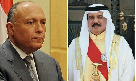 FM Shoukry, Bahraini King Essa
