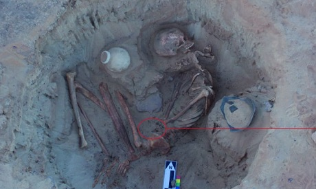 3,700-year-old skeletons of woman, fetus discovered in Egypt
