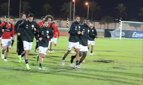 77b79ffe2 Egypt continues preparations for Tunisia match despite heavy rain ...