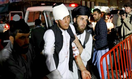 Injured person in Kabul
