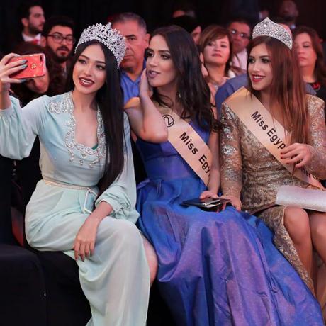 Miss Egypt beauty Queens during fashion festival. Photo: Yasser Hemaya