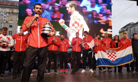 Marin Cilic and other members of Croatia