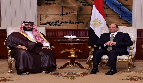 President Sisi and Crown Prince Mohammed Bin Salman