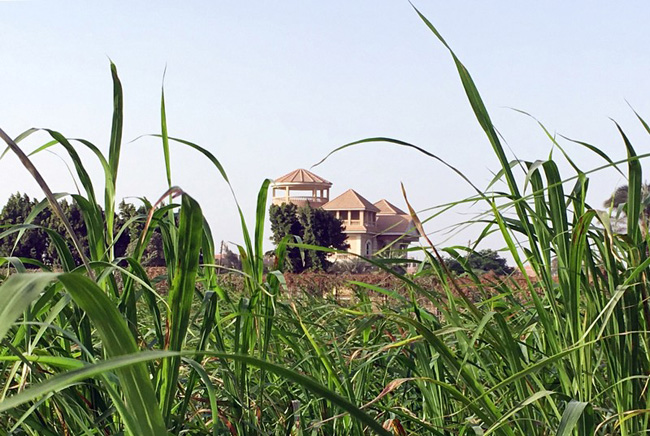 A view of a house at the village of Ikyad Dijwi in the Nile Delta of El Qanater El Khayreya city in