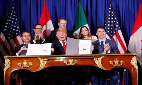 Donald Trump, Justin Trudeau, Enrique Pena Nieto