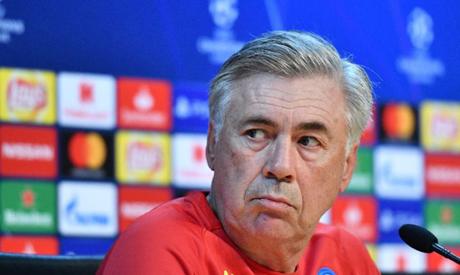 Napoli coach Carlo Ancelotti. (AFP)