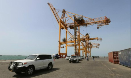 Sea port of Hodeidah, Yemen