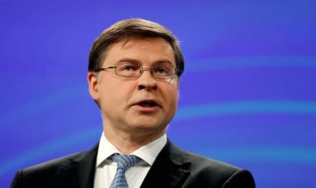 Valdis Dombrovskis. Reuters