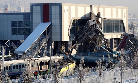 Crashed train, Ankara