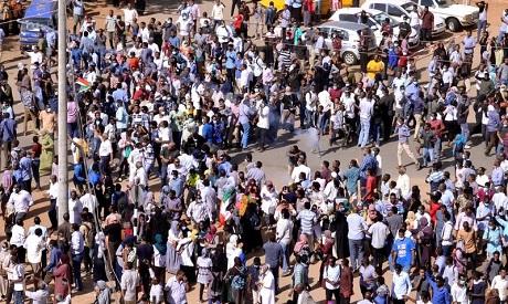 Sudanese demonstrators