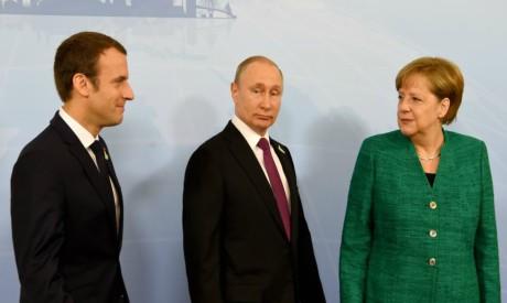 Macron, Putin, Merkel