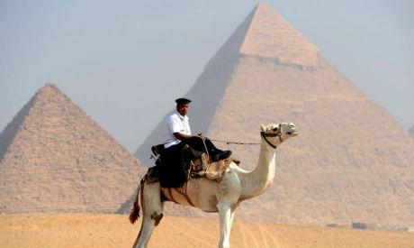 Police at Giza Pyramids