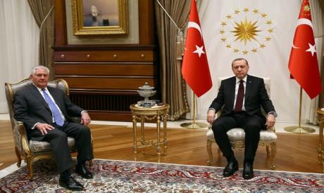 Erdogan, Tillerson