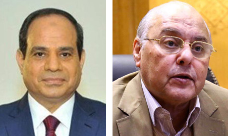 President Abdel-Fattah Al-Sisi and Head of the Ghad (Tomorrow) Party, Moussa Mustafa