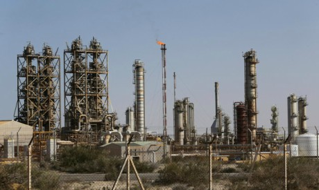 Oil port of Brega, Libya