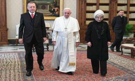 Turkish president to meet Pope Francis in historic visit to the Vatican