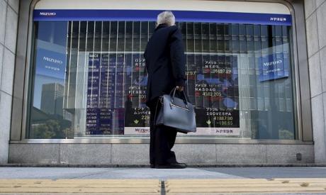 Stock Market board in Tokyo