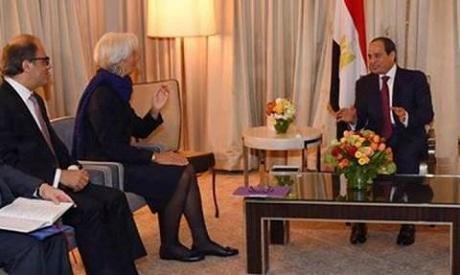 El-Sisi , Christine Lagarde