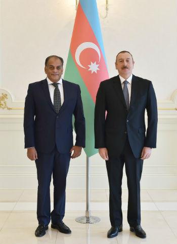 Ambassador Adel Ibrahim and President of Azerbaijan Ilham Aliyev