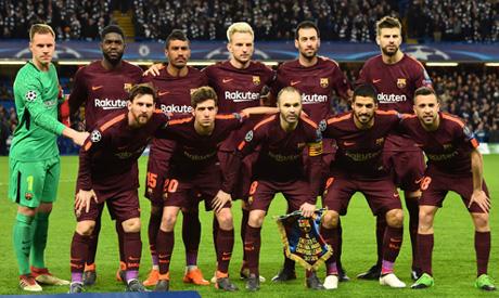 Barcelona players (AFP)