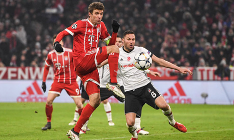 Thomas Muller And Robert Lewandowski Netted Twice As Bayern Munich Thrashed  Man Besiktas   On Tuesday In The First Leg Of Their Champions League