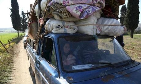 Syrians Fleeing Afrin