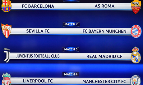 Champions League Quarter Final Draw World Sports Ahram Online