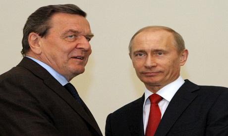 Putin and Schroeder