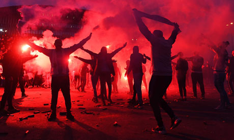 Marseille (OM) and Lyon (OL). (AFP)