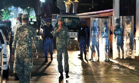 Maldives defence soldiers