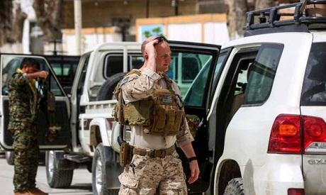 US Soldier in Manbij