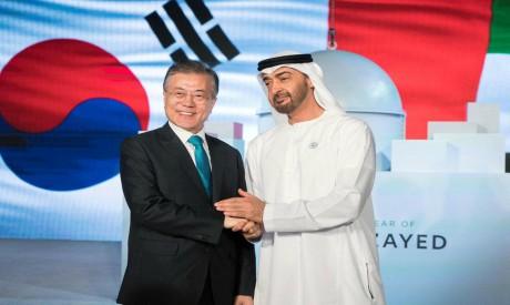 Mohammed bin Zayed, Moon Jae-in