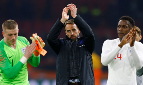 England manager Gareth Southgate applauds fans after the match  (Reuters)