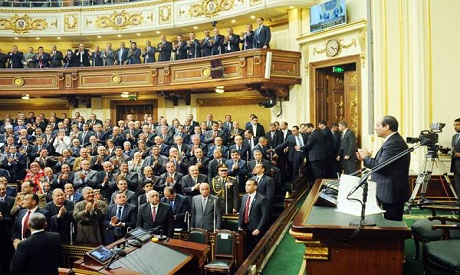 El-Sisi at Parliament