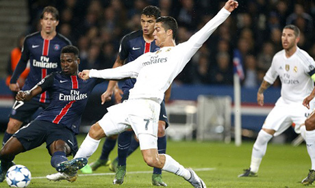 Real Madrid and PSG (Reuters)
