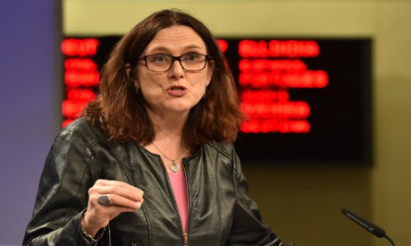 EU's Malmstrom says tariffs not way to solve overcapacity in steel sector