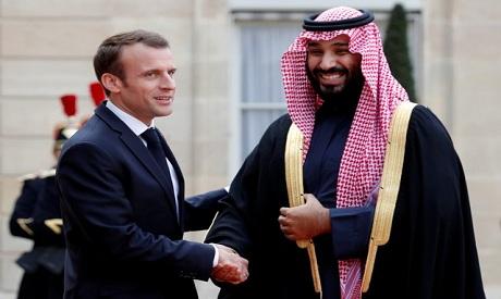 Macron, Bin Salman