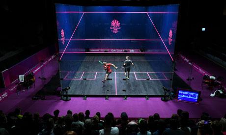singles squash match at 2018 Gold Coast Commonwealth