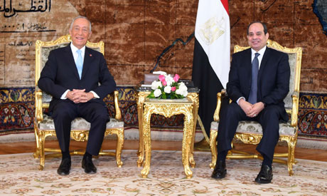 A handout picture released by the Egyptian Presidency shows Egyptian President Abdel Fattah al-Sisi