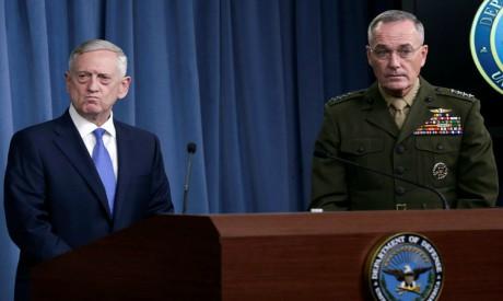 US Defense Secretary Jim Mattis and Marine General Joseph Dunford