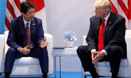 Abe, Trump