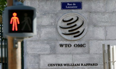 The headquarters of the World Trade Organization (WTO) are pictured in Geneva, Switzerland, April 1