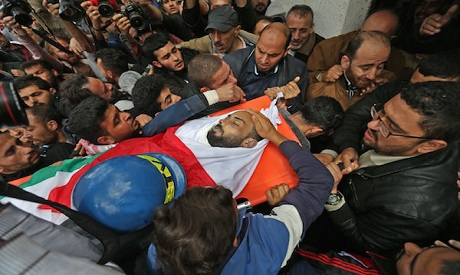 Palestinian journalist Ahmed Abu Hussein, who died after being shot by Israeli troops