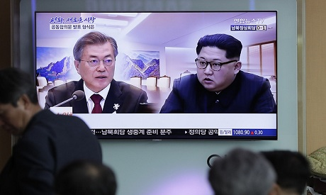 South Korean President Moon Jae-in and North Korean leader Kim Jong Un