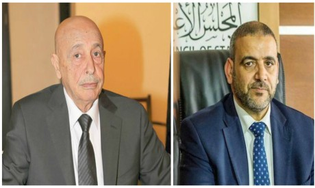 Tobruk-based House of Representatives Aqilah Saleh and the head of the Tripoli-based High Council of