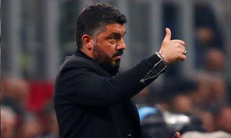 AC Milan coach Gennaro Gattuso (Reuters)