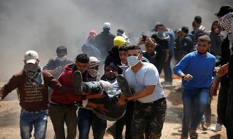 update 2 at least 150 palestinians injured 2 killed as israel gaza