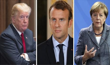 Trump, Macron, Merkel